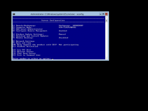 Configuring Windows Server 2012 Core: SConfig
