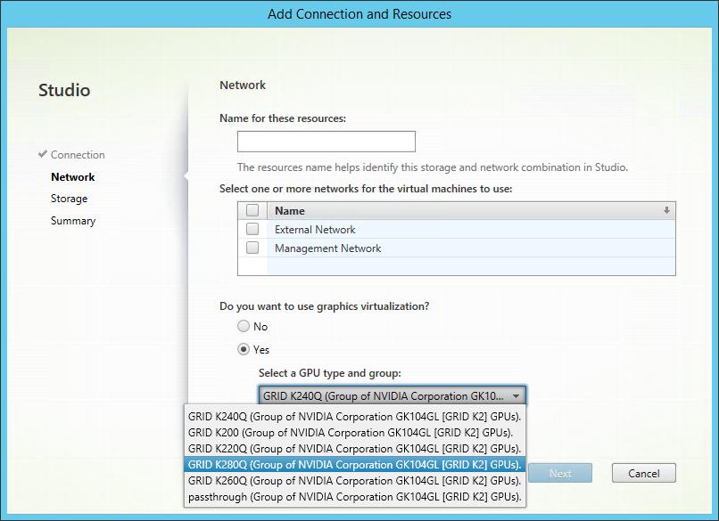 XenDesktop 7.6 DDC vGPU profiles