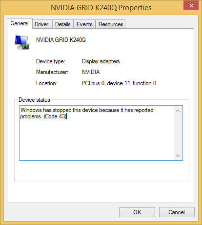 NVIDIA driver not working